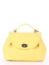 Стильная сумка, модель 190008 желтый. Фото товара, вид спереди.