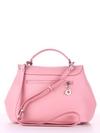 Модная сумка, модель 190009 пудрово-розовый. Фото товара, вид сзади.