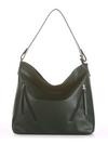 Летняя сумка, модель 190017 темно-зеленый. Фото товара, вид спереди.