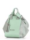 Летняя сумка, модель 190024 мята. Фото товара, вид сзади.