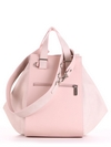 Летняя сумка, модель 190026 бежевый-розовый. Фото товара, вид сзади.