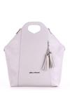 Летняя сумка, модель 190035 светло-серый. Фото товара, вид спереди.