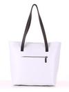 Молодежная сумка, модель 190101 белый. Фото товара, вид дополнительный.