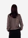 alba soboni. Жіночий бомбер 201-009-00 хакі. Вид 3.