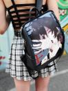 Молодіжний рюкзак з прінтом з манги Бродячі пси alba soboni 211526 колір темно-сірий. Фото - 3