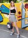 Молодіжний рюкзак з прінтом з манги Бродячі пси alba soboni 211526 колір темно-сірий. Фото - 5